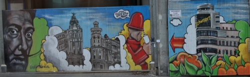 Murals in Madrid
