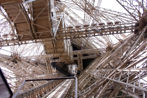 Inside the Eiffel Tower, Paris