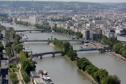 View of the Seine River, Paris, France