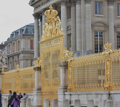 Gold Entrance Gate, Palace of Versailles, France