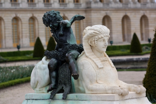 Statue in the Gardens  of Versailles