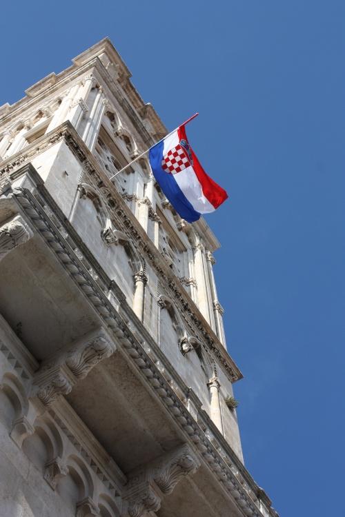 Croatian Flag, Trogir, Croatia