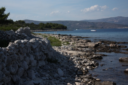 Blue Lagoon rocky shore, Croatia