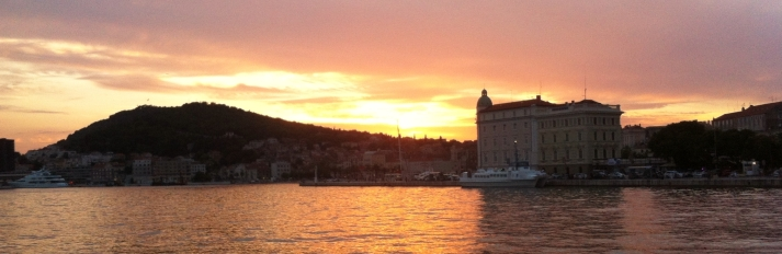 Sunset at Split Harbor, Croatia