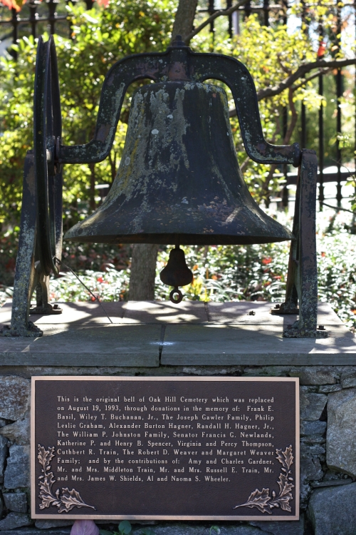 Original Bell at the Oak Hill Cemetery