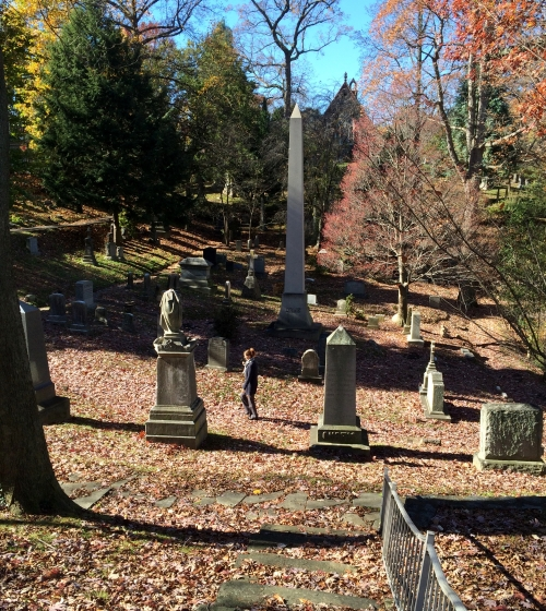 There are trails throughout the cemetery so you won't be stepping on any graves.