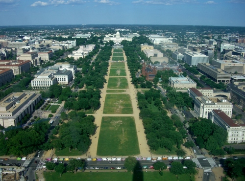 Capitol Building from the top of the Washington Monument