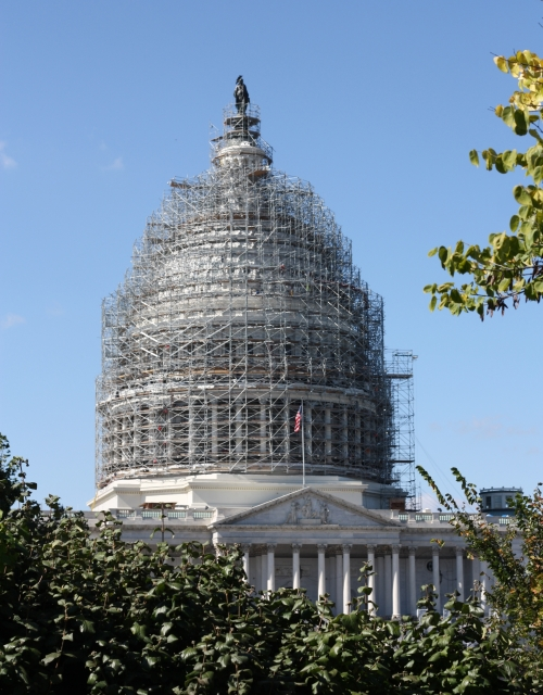 Capitol Building with scaffolding