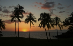 Sunset at the Mauna Kea Beach Hotel