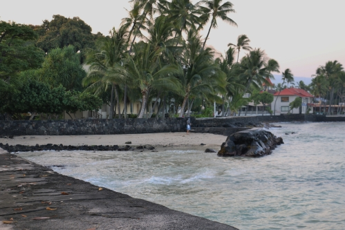Kona waters and seawall