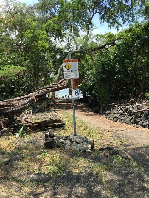 WP Kealakekua Bay Trail Marker 8