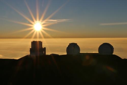 Mauna Kea Sun Setting