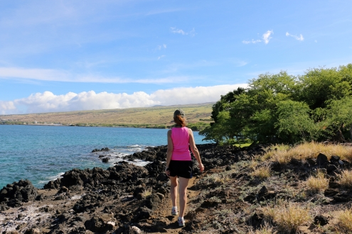Along the Ala Kahakai Trail to Mau'umae Beach, Hawaii